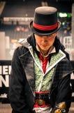 Cosplayer kleidete als ` Jakob-` von ` Meuchelmörder ` s Kredo ` an lizenzfreie stockfotos