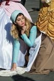 Cosplayer at Lucca Comics 2016. Cosplayer dressed up as Cinderella at Lucca Comics Stock Images