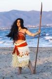 Cosplayer na Poetto plaży Zdjęcia Royalty Free