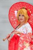 Cosplayer at Pier-2 Art Center anime festival. Royalty Free Stock Photos