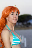 Cosplayer on the Poetto Beach Royalty Free Stock Images