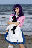 Cosplayer in the Poetto Beach Royalty Free Stock Photos