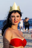 Cosplayer on the Poetto Beach Royalty Free Stock Photos