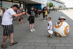 Cosplayer posing during Comic Con Germany in Stuttgart royalty free stock image
