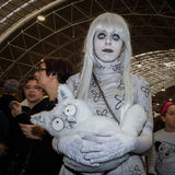 Cosplayer posing at Festival del Fumetto convention in Milan, Italy Royalty Free Stock Images