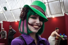 Cosplayer posing at Festival del Fumetto convention in Milan, Italy Royalty Free Stock Photography