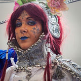 Cosplayer posing at Festival del Fumetto convention in Milan, Italy Stock Image