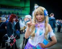 Cosplayer s'est habillé comme le ` de Kotori Minami de ` du ` vivant d'amour de ` Image libre de droits