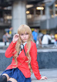 Cosplayer from School Uniform Stock Photo
