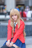 Cosplayer from School Uniform Royalty Free Stock Photo