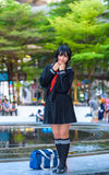 Cosplayer from School Uniform Stock Photos