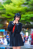 Cosplayer from School Uniform Royalty Free Stock Image