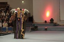 Cosplayer se vistió como carácter Momonga del serie del animado del Overlord Fotografía de archivo libre de regalías