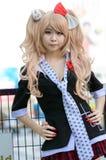 Cosplayer som tecken Junko Enoshima från Danganronpa Royaltyfri Foto