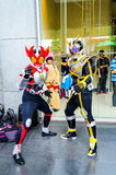 Cosplayer som tecken Kamen Rider Royaltyfria Foton