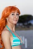 Cosplayer sur la plage de Poetto Images libres de droits
