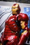 Cosplayer ubierał gdy ` żelaza mężczyzna ` od cud komiczek Zdjęcia Stock