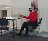 Cosplayer ubierał gdy charakter wierzba od gemowego donÂ't Głodzi Zdjęcia Stock