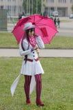 Cosplayer ubierał jako Mephisto Pheles od manga błękita egzorcysty zdjęcie royalty free