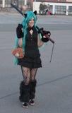 Cosplayer ubierał jako charakter od anime filmu Zdjęcie Royalty Free