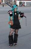 Cosplayer ubierał jako charakter od anime filmu Obraz Stock