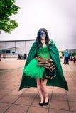 Cosplayer ubierał jako ` Loki ` od cud komiczek Fotografia Stock
