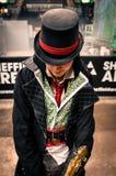 Cosplayer vestiu-se como o ` de Jacob do ` do ` do credo do ` s do assassino do ` imagem de stock