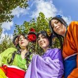 Cosplayers à la foire de livre de Francfort 2014 Photos libres de droits