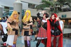 Cosplayers που φορά τα κοστούμια και τα εξαρτήματα μόδας σε Anime Exp Στοκ φωτογραφία με δικαίωμα ελεύθερης χρήσης