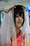 Cosplayers που φορά τα κοστούμια και τα εξαρτήματα μόδας σε Anime Exp Στοκ Εικόνες