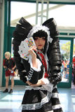 Cosplayers που φορά τα κοστούμια και τα εξαρτήματα μόδας σε Anime Exp Στοκ εικόνα με δικαίωμα ελεύθερης χρήσης
