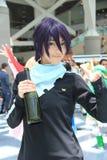 Cosplayers που φορά τα κοστούμια και τα εξαρτήματα μόδας σε Anime Exp Στοκ Εικόνα