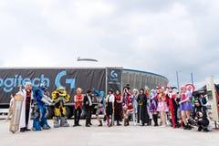 Cosplayers на восточно-европейском шуточном жулике 2017 Стоковое фото RF