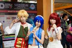 Cosplayers in Anime Festival Asia - Indonesia 2013 Stock Photos