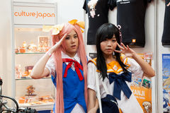 Cosplayers in Anime Festival Asia - Indonesia 2013 Royalty Free Stock Image