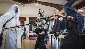 Cosplayers AR Sci Fi Scarborough Στοκ φωτογραφία με δικαίωμα ελεύθερης χρήσης
