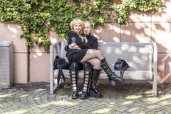 Cosplayers bij de Boekenbeurs 2014 van Frankfurt Royalty-vrije Stock Fotografie