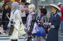 Cosplayers celebrate anime figures, Japan