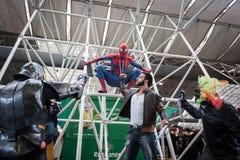 Cosplayers che posa alla convenzione di Festival del Fumetto a Milano, Italia Fotografie Stock Libere da Diritti