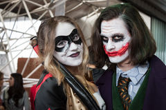 Cosplayers che posa alla convenzione di Festival del Fumetto a Milano, Italia Immagini Stock Libere da Diritti