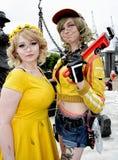 Cosplayers de Cindy Aurum Roleplay do jogo de Final Fantasy fotografia de stock royalty free