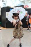 Cosplayers die kostuums en maniertoebehoren dragen in Anime Exp Royalty-vrije Stock Foto's