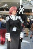 Cosplayers die kostuums en maniertoebehoren dragen in Anime Exp Royalty-vrije Stock Foto