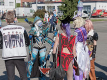 Cosplayers dressed as characters from PC games Stock Photo
