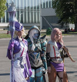 Cosplayers dressed as characters from PC games Royalty Free Stock Photos