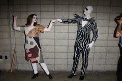 Cosplayers em Long Beach cómica e em engodo do horror, centro de convenção de Long Beach, Long Beach, CA 10-30-11 Foto de Stock