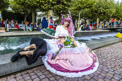 Cosplayers at the Frankfurt Book Fair 2014 Stock Images