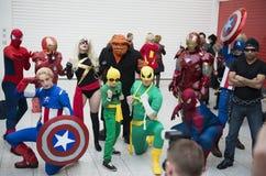 Cosplayers Marvel Стоковые Изображения
