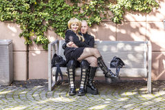 Cosplayers på den Frankfurt bokmarknaden 2014 Royaltyfri Fotografi