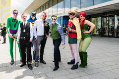 Cosplayers posing during Comic Con Germany in Stuttgart Stock Image